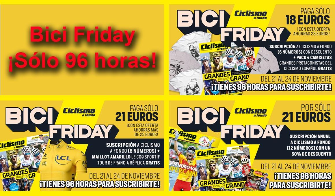 Aprovecha el Black Friday de Ciclismo a  Fondo