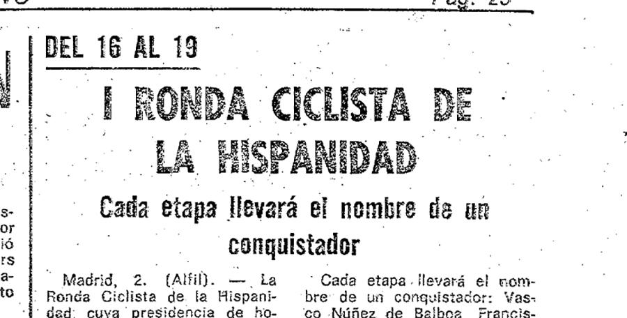 Ronda de la Hispanidad, una efímera carrera con mucha 'Historia'