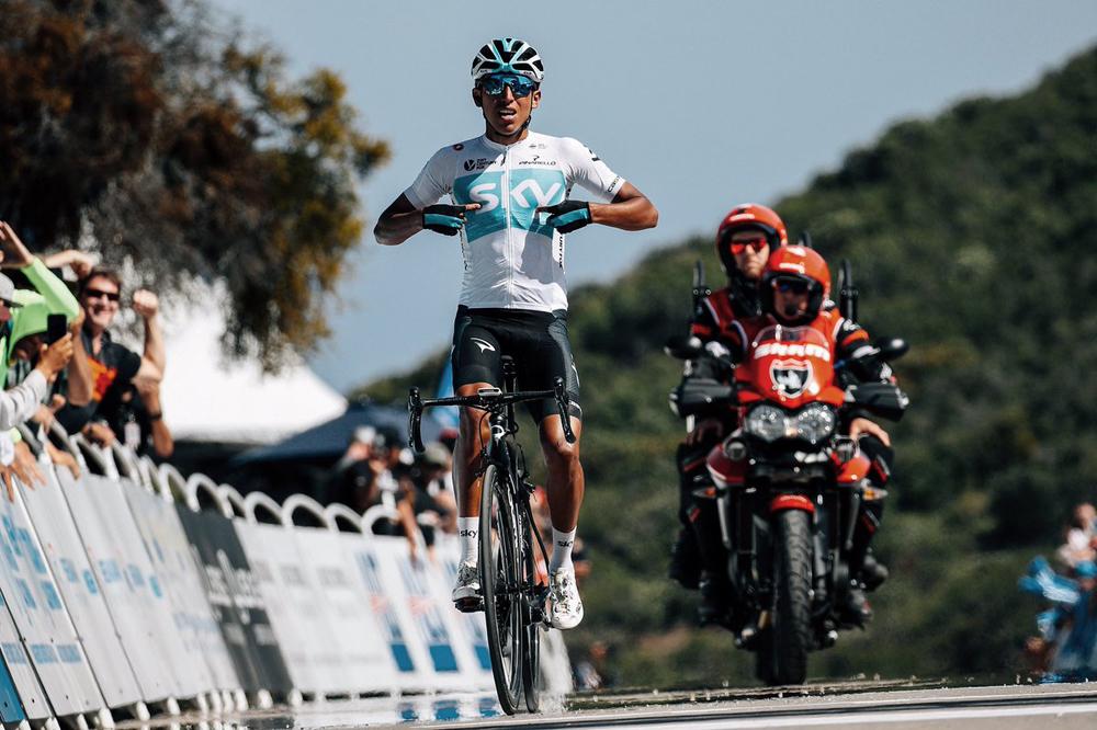 Egan Bernal, la baza del Sky para el Tour Colombia 2.1