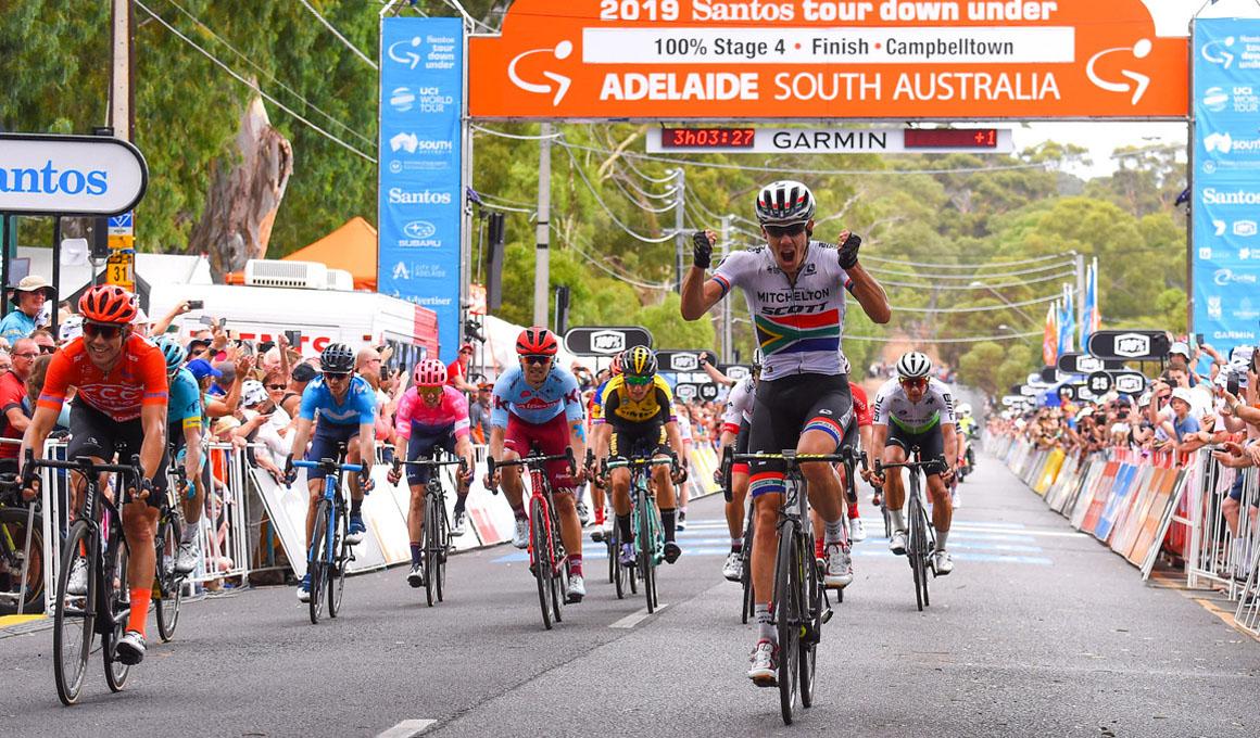 Tour Down Under: Impey gana, Bevin sigue líder y Luisle  aguanta