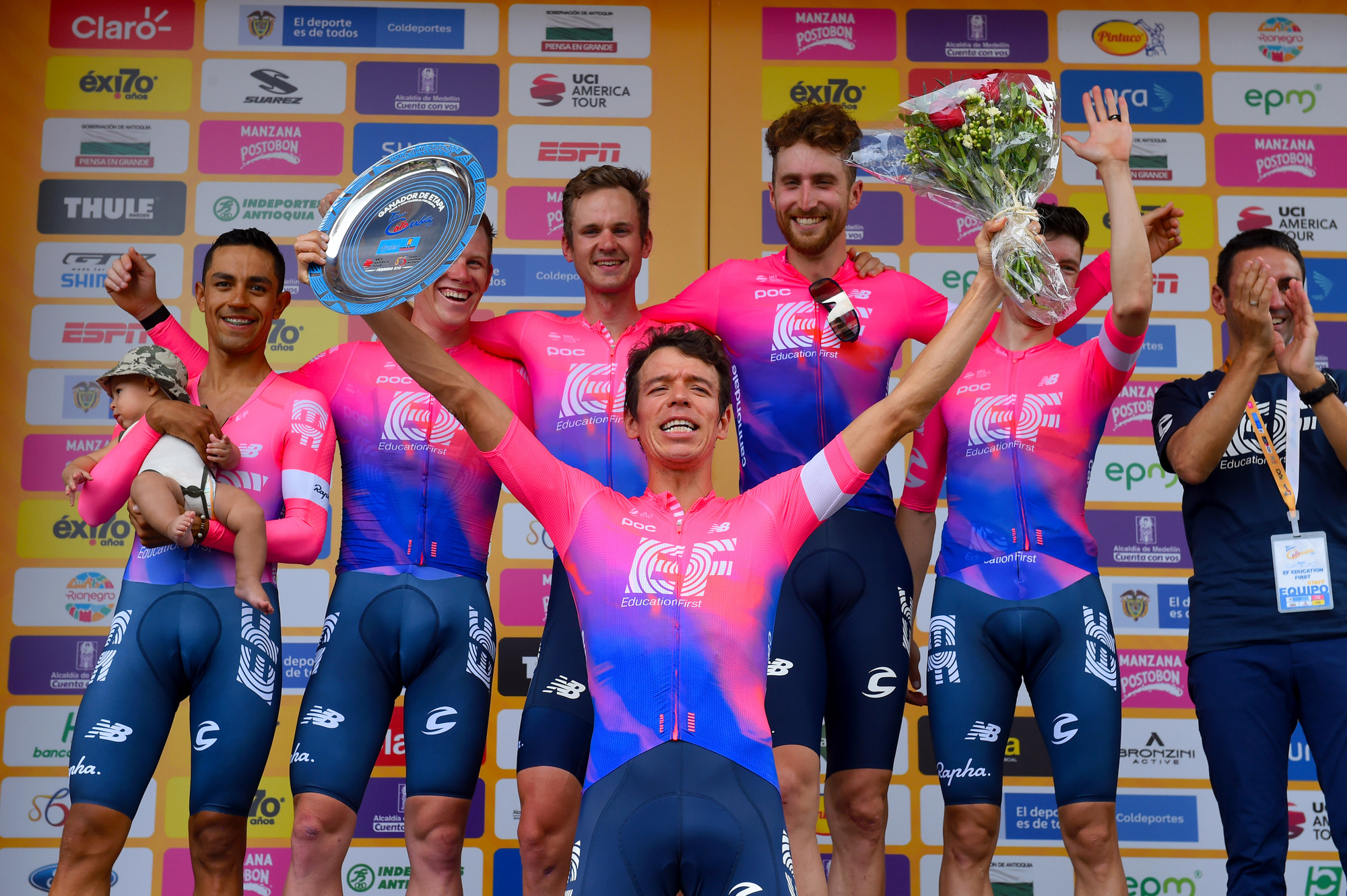 Tour Colombia: EF Education First gana la CRE; Urán, primer líder
