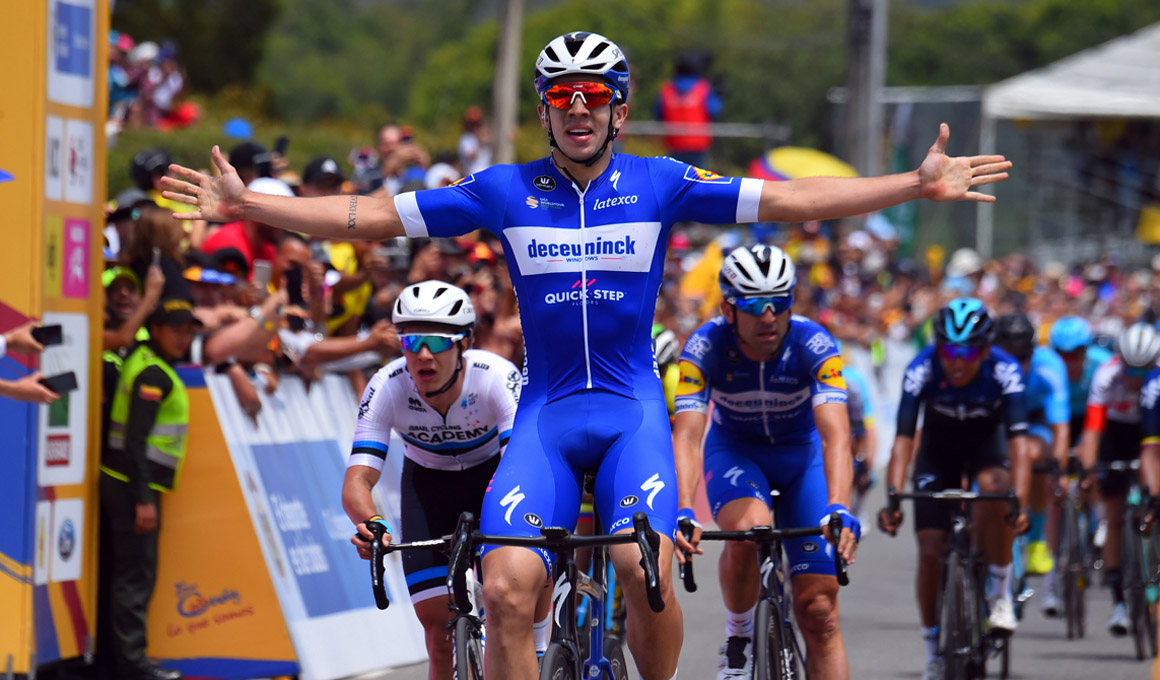 Álvaro Hodeg, etapa y liderato en el Tour Colombia