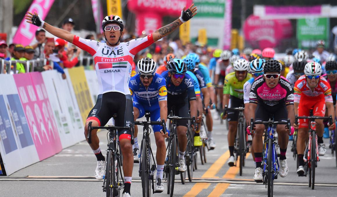 Tour Colombia: Molano gana en un sprint reducido; Urán recupera el liderato