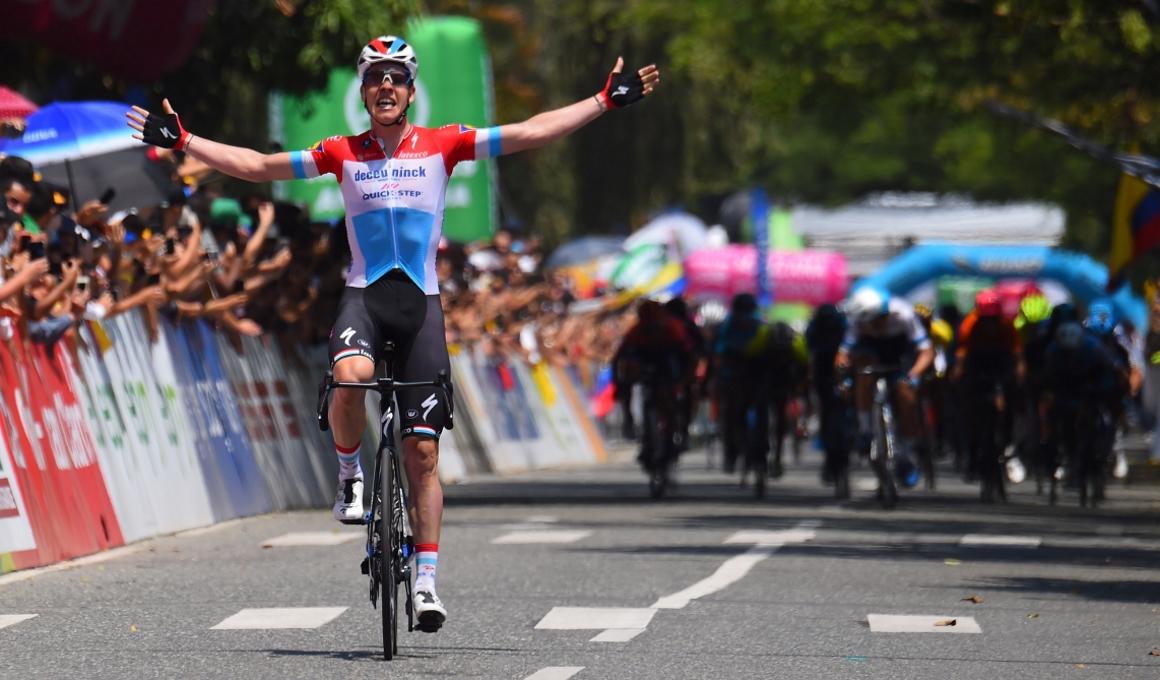 Tour Colombia: Jungels sorprende a los sprinters y se lleva la etapa y el liderato