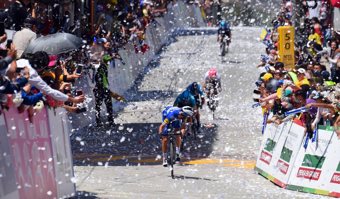 Julian Alaphilippe, nuevo líder del Tour Colombia 2019 tras ganar en La Unión