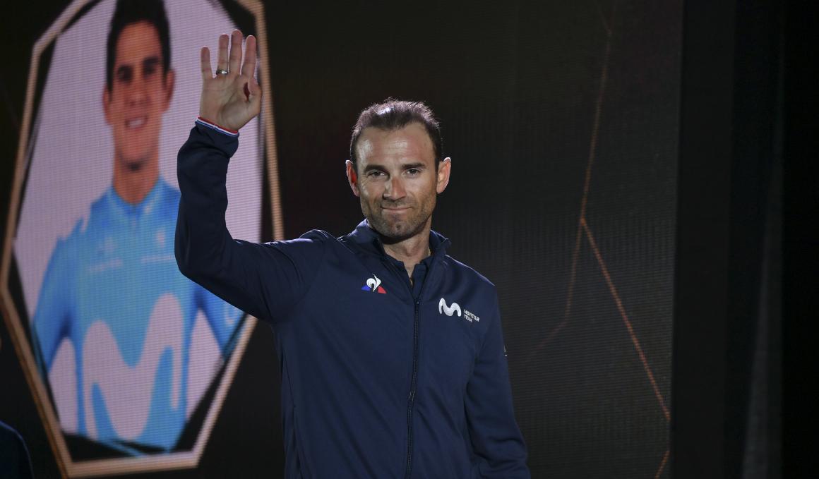 """Alejandro Valverde: """"No creo en la maldición del maillot arcoíris, pero espero ganar ya"""""""