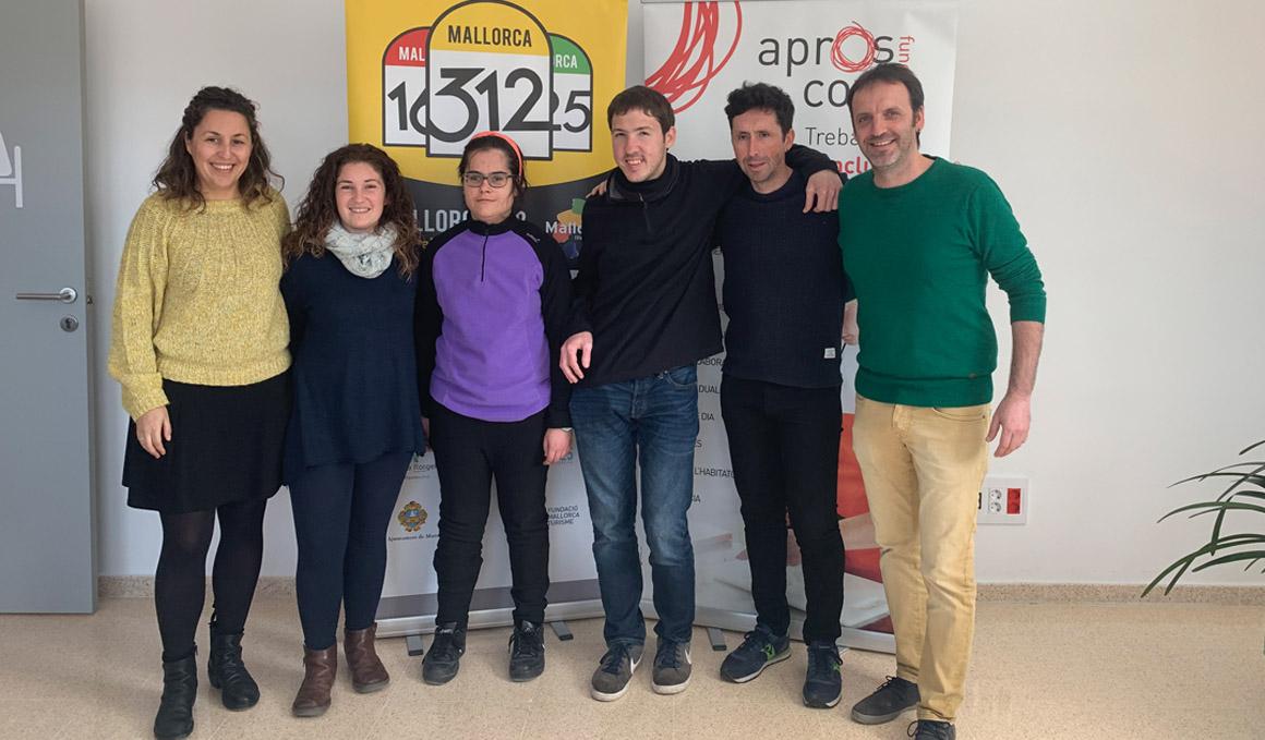 La Mallorca 312 colabora con Aproscom Fundació en la inclusión de las personas con discapacidad intelectual