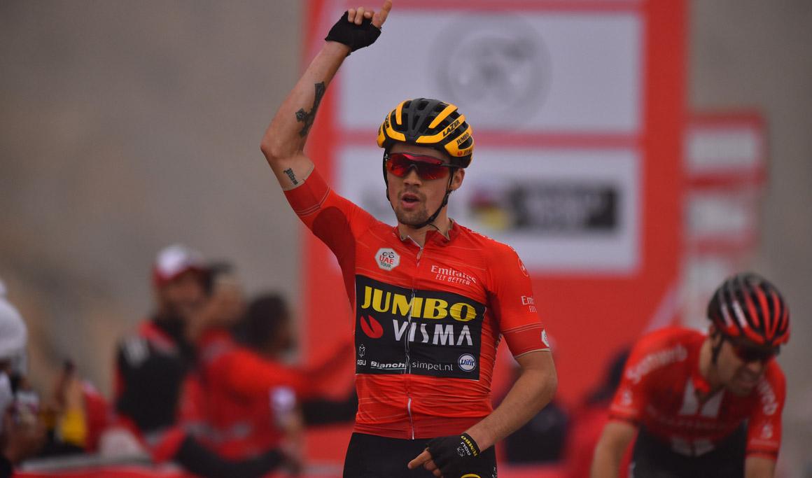 Roglic gana en Jebel Jais y es virtual ganador del UAE Tour