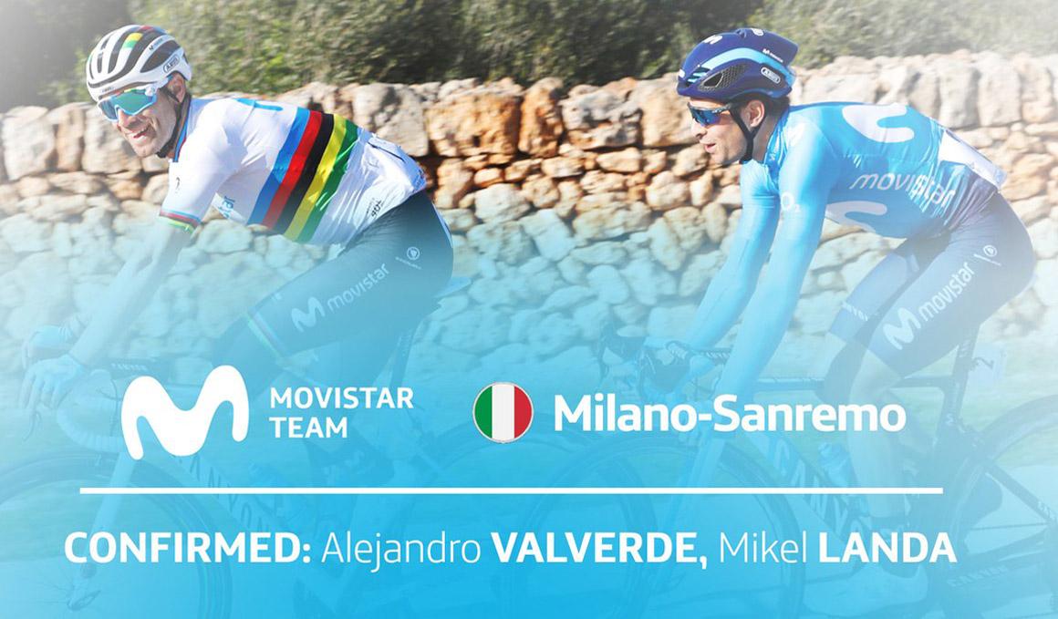 Valverde y Landa correrán la Milán-San Remo