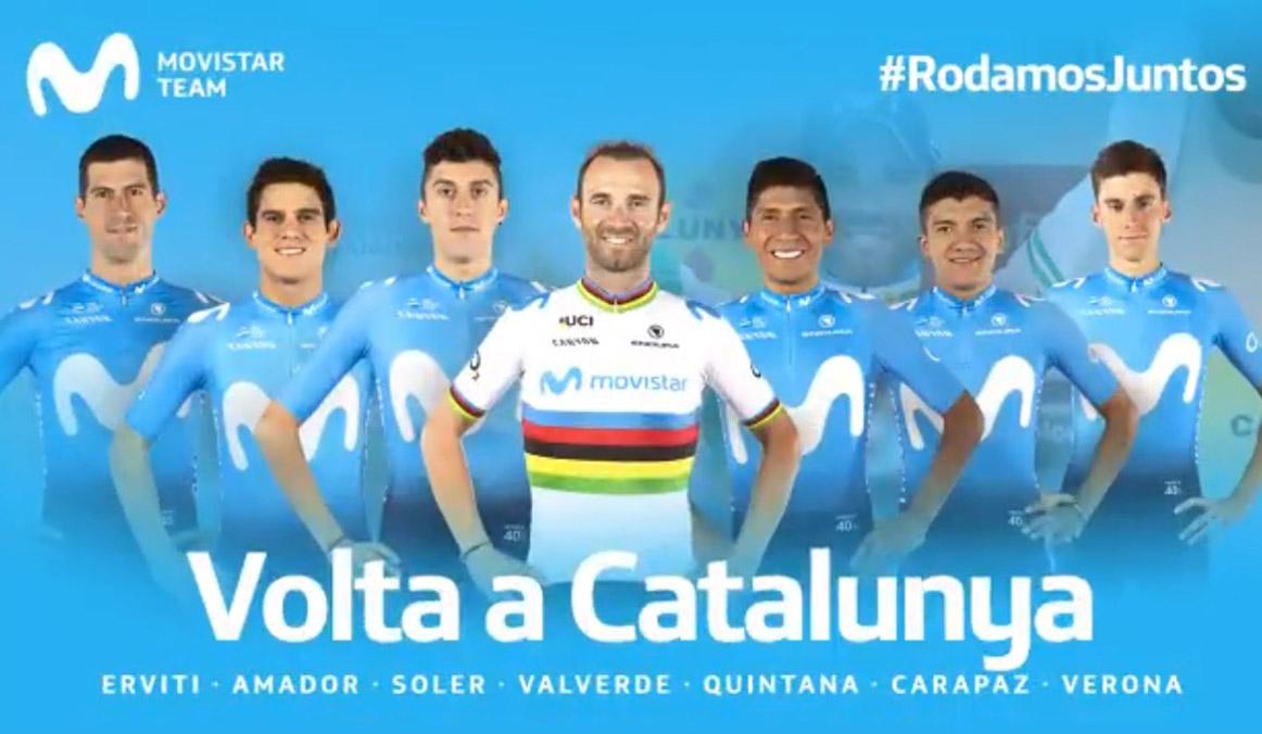 Valverde, Quintana y Soler, estrellas del Movistar Team para la Volta a Catalunya