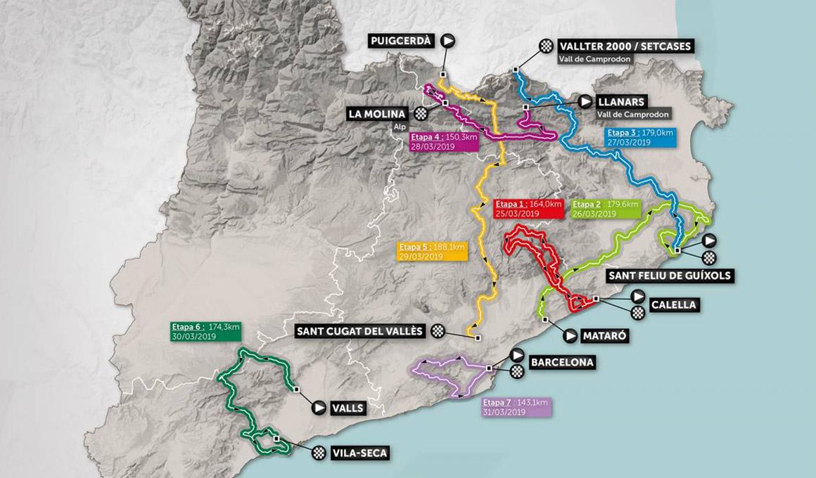 Comienza la 99ª Volta Ciclista a Catalunya: etapas y favoritos