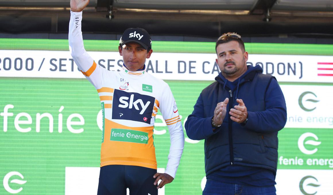 """Egan Bernal: """"Estamos trabajando bien, siempre pensando en el Giro"""""""