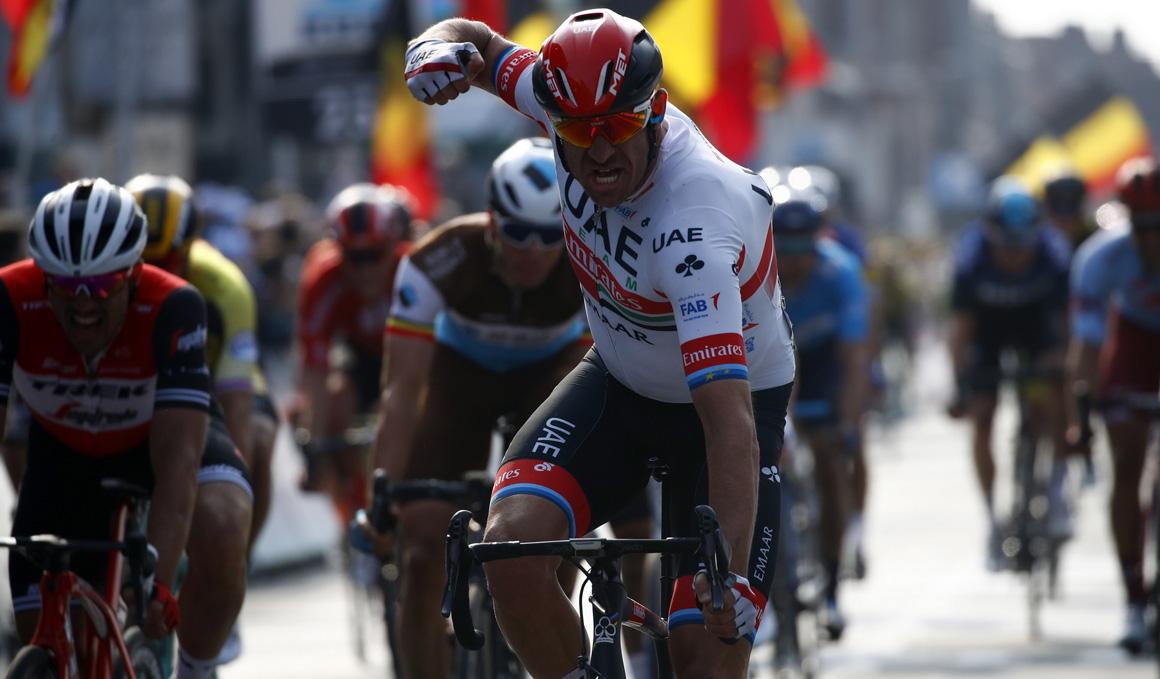 Kristoff, el más fuerte en el sprint de la Gante-Wevelgem