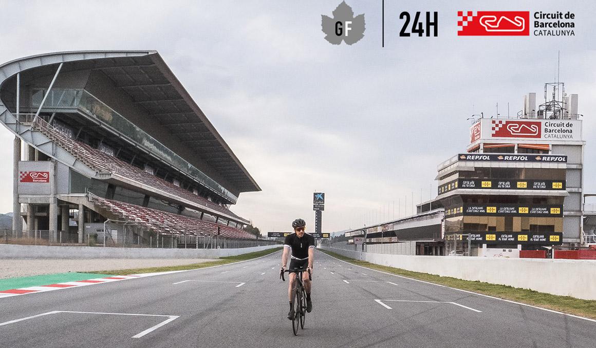 Gran Fondo 24h: rueda sobre el asfalto del Circuit de Barcelona-Catalunya