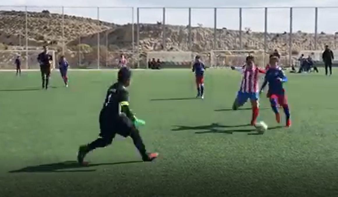 Los hijos de Alejandro Valverde destacan como futbolistas (vídeo)