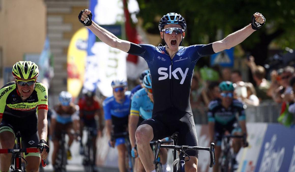 Geoghegan Hart se estrena como profesional en el Tour de los Alpes