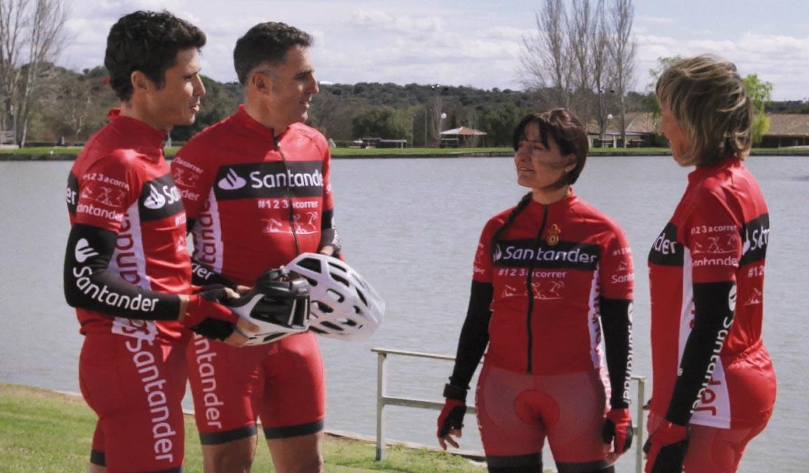 Campaña de seguridad vial de Indurain y Gómez Noya