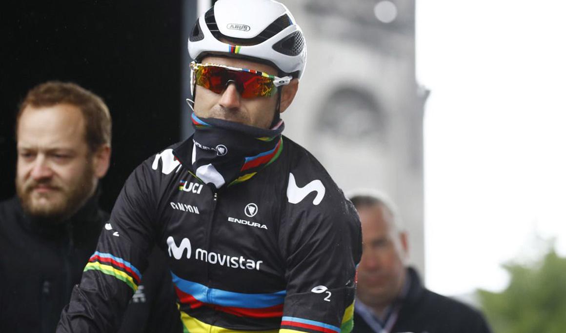 Alejandro Valverde, con un edema óseo en el sacro, duda para el Giro