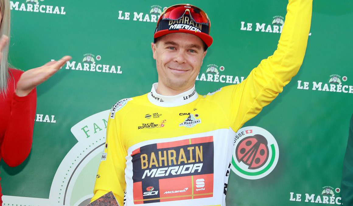 Jan Tratnik, primer líder del Tour de Romandía
