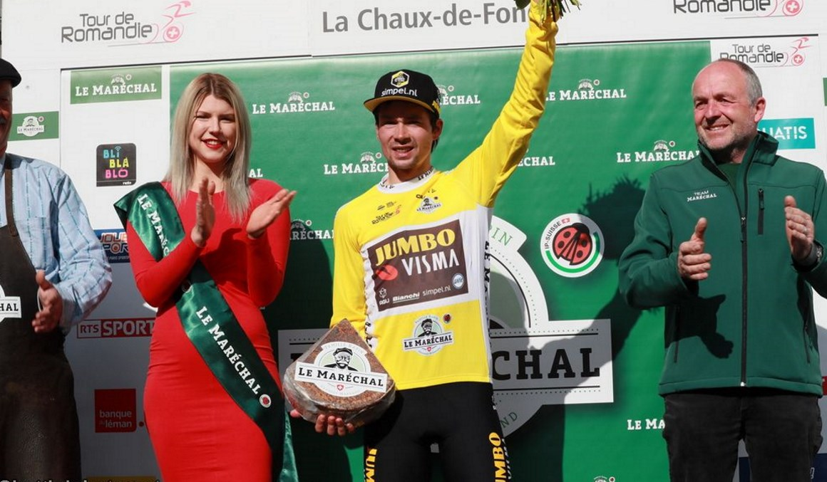 Primoz Roglic, victoria y liderato en el Tour de Romandía