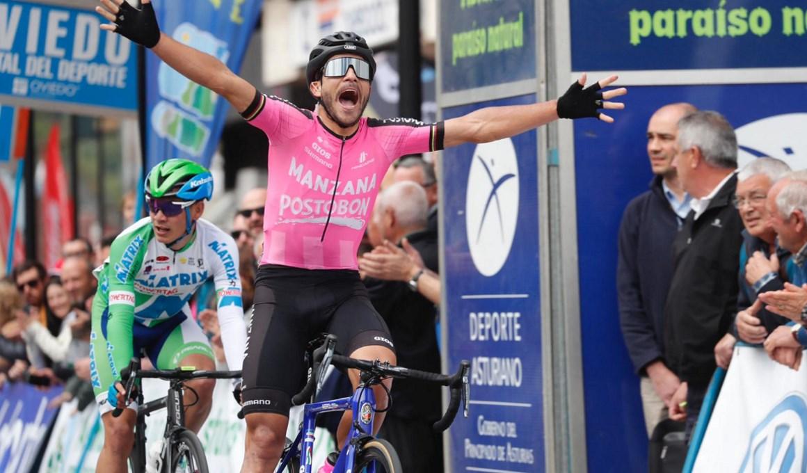El colombiano Quintero gana la primera etapa de la Vuelta a Asturias
