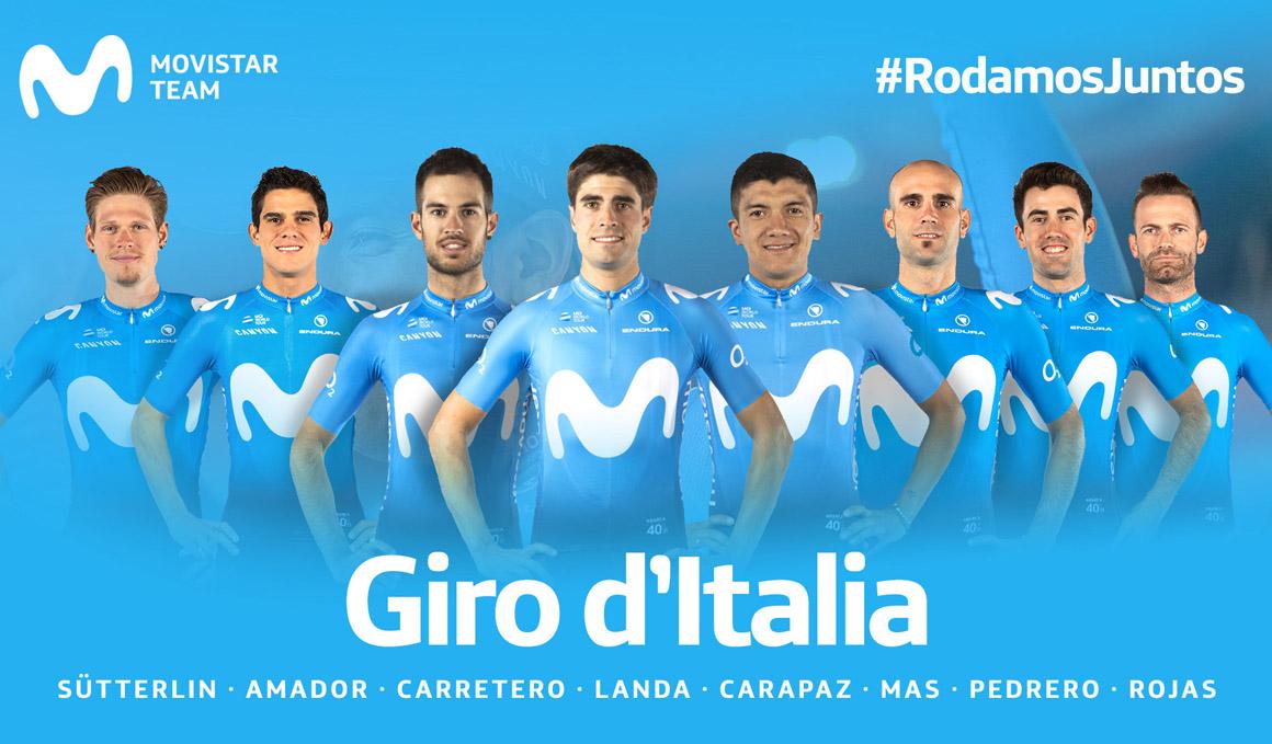 Landa y Carapaz liderarán al Movistar Team en el Giro