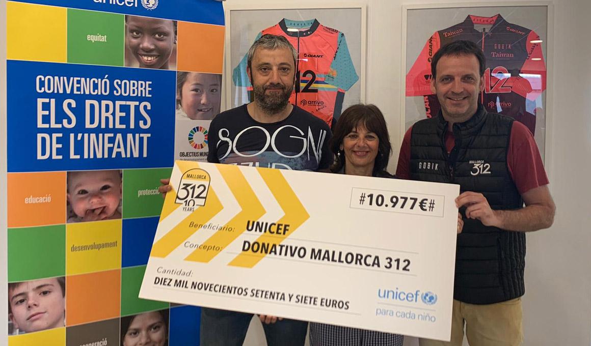 La Mallorca 312 dona más de 10.000 euros a UNICEF Comité Español