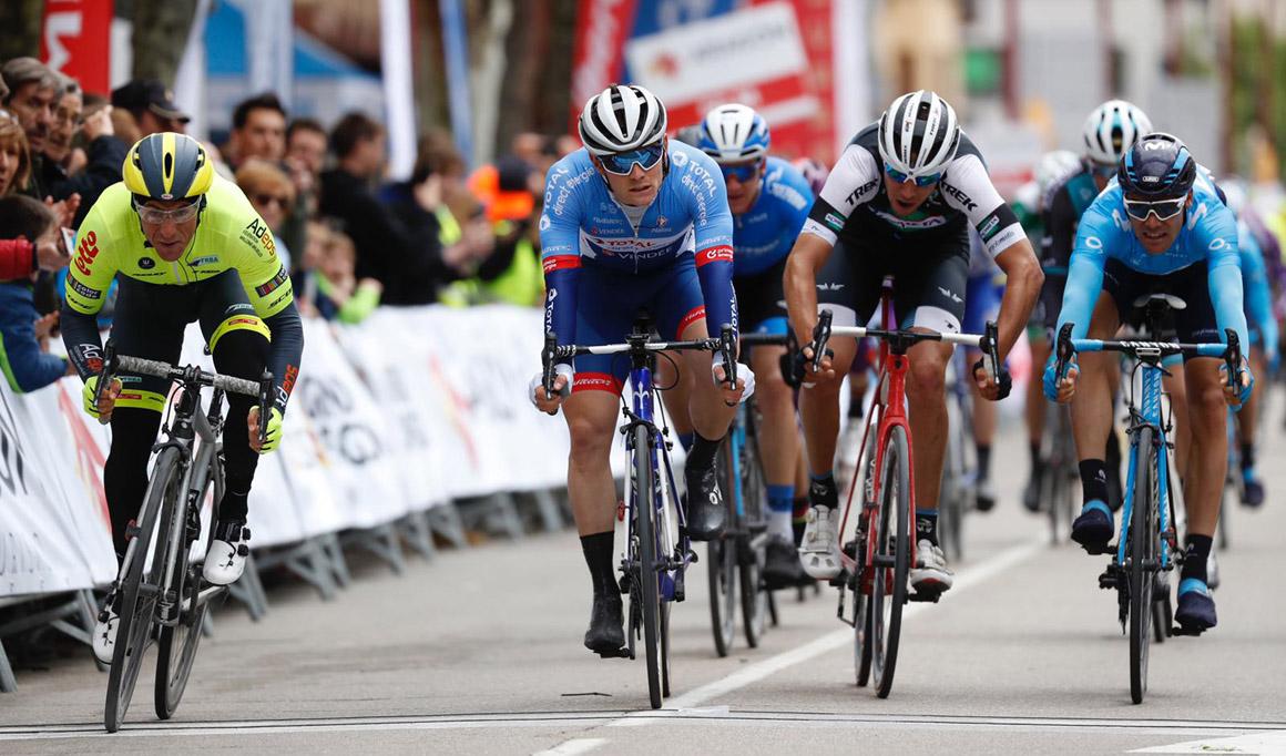 Justin Jules gana en Calatayud y es el primer líder de la Vuelta a Aragón
