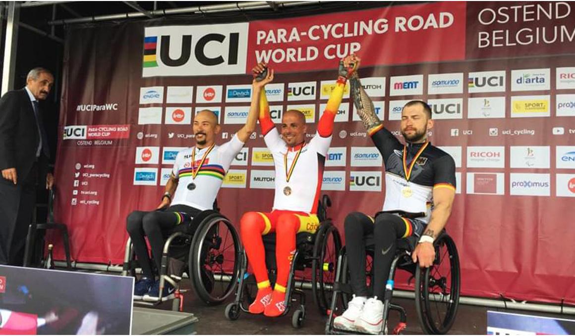 Día de oro para la Selección de Ciclismo Adaptado en la Copa del Mundo
