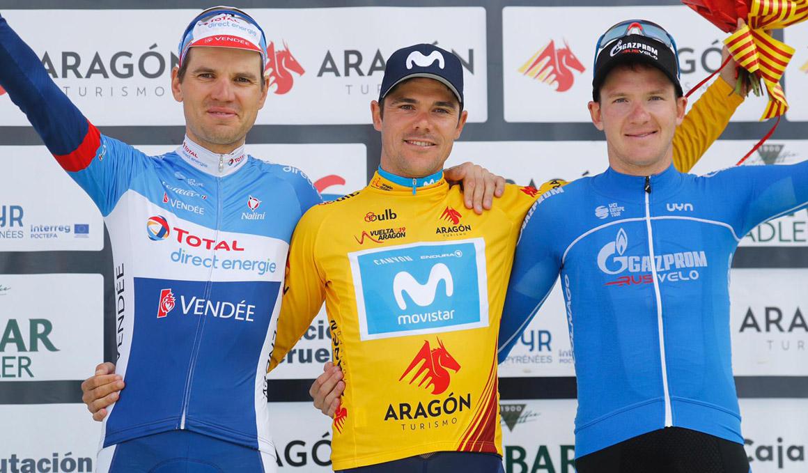 Edu Prades (Movistar), ganador de la Vuelta Aragón gracias a las bonificaciones