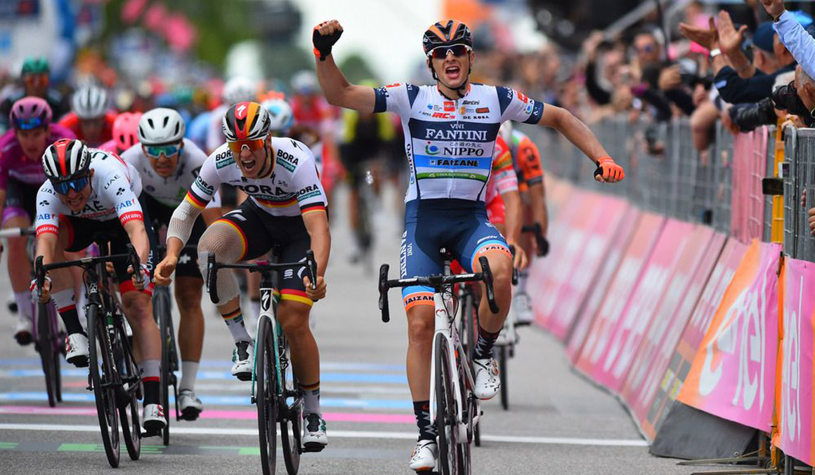 Agónica victoria de Damiano Cima tras 170 km en fuga