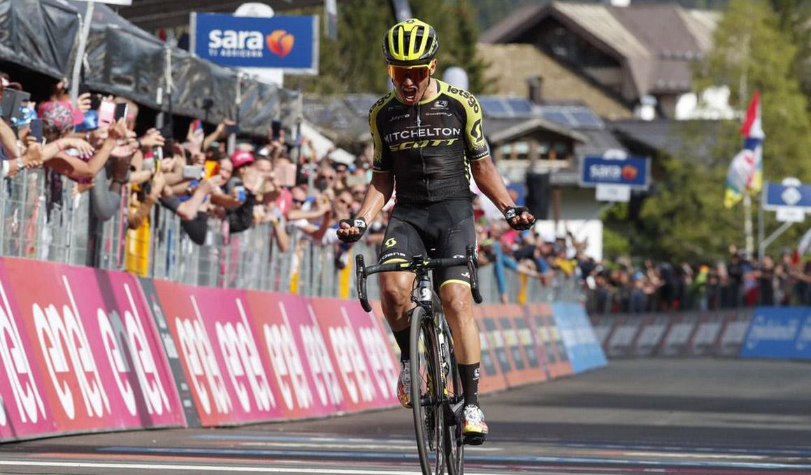 Esteban Chaves se reencuentra con la victoria en San Martino di Castrozza