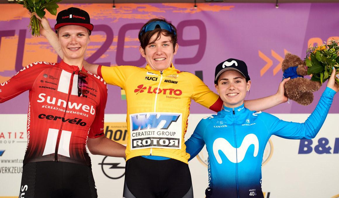 Lourdes Oyarbide alcanza la 3ª plaza en la Vuelta a Turingia