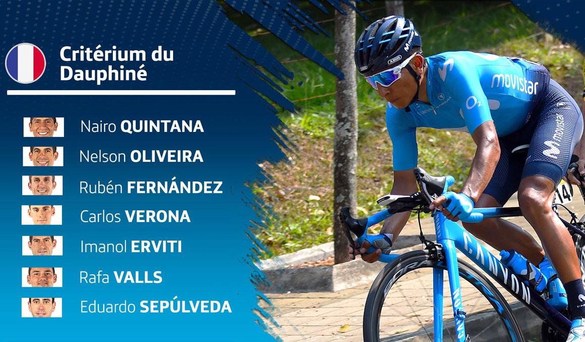 Quintana, al mando del Movistar en el Dauphiné