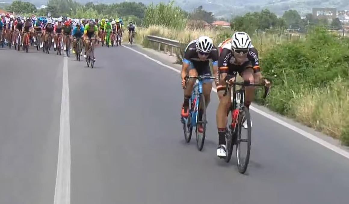 Elosegui (Lizarte) roza el triunfo en el Giro U23