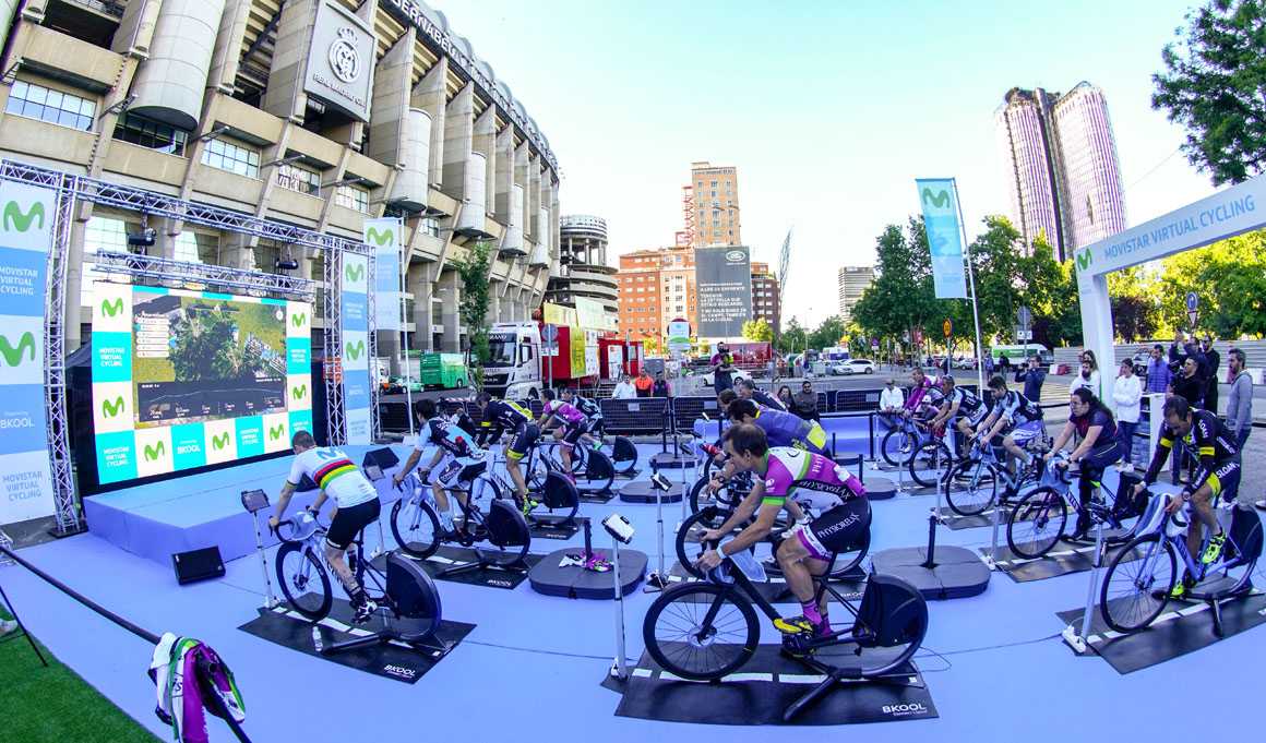 Pamplona acoge la segunda fase Endurance de Movistar Virtual Cycling
