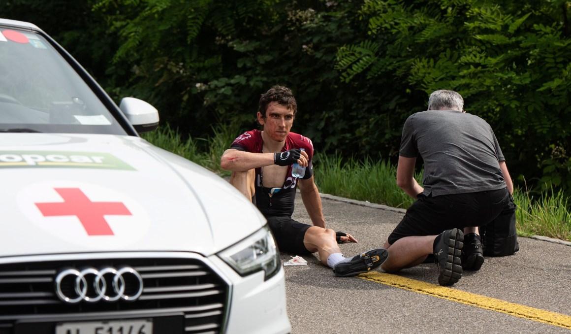 Geraint Thomas recibe el alta y no peligra su participación en el Tour