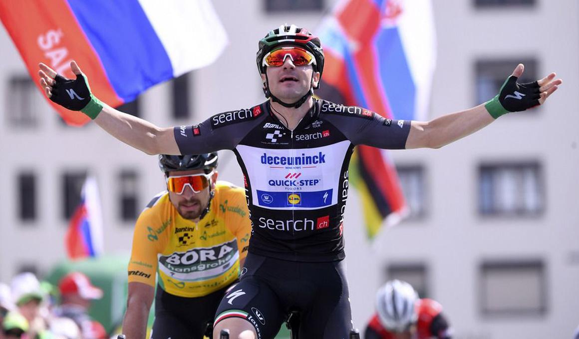 Viviani repite al sprint, por delante de Sagan, en la Vuelta a Suiza