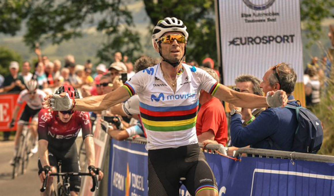 Alejandro Valverde vuelve a lo grande y es el primer líder de la Ruta de Occitania