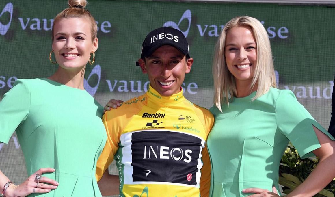 Egan Bernal alcanza el liderato de la Vuelta a Suiza