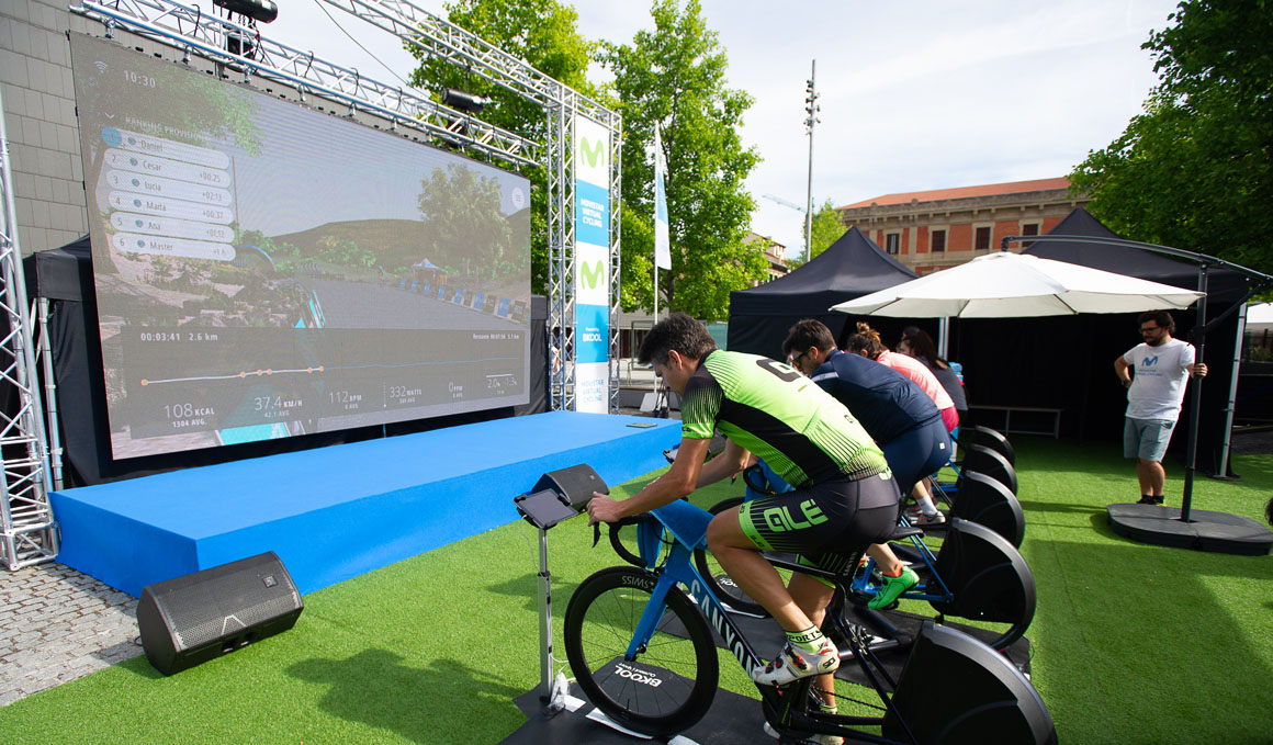 Movistar Virtual Cycling celebra en Pamplona su segunda etapa Endurance