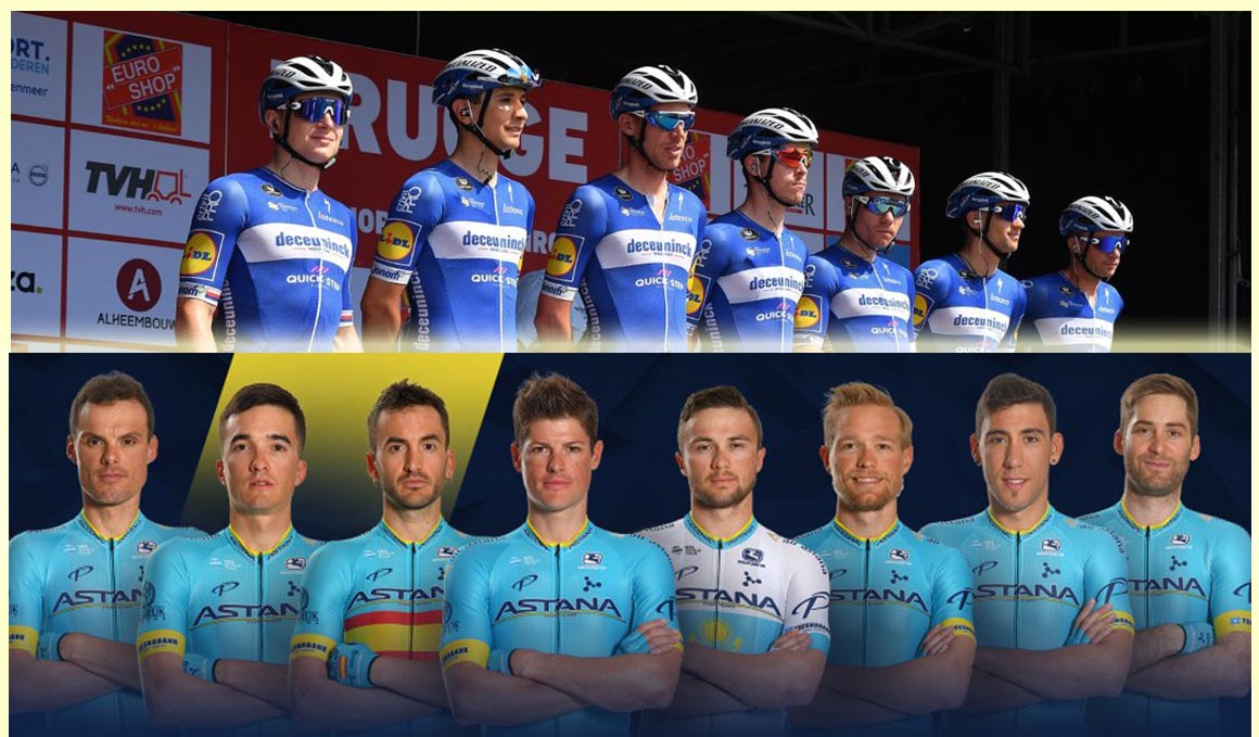 Los equipos de Deceuninck – Quick-Step y Astana Team para el Tour