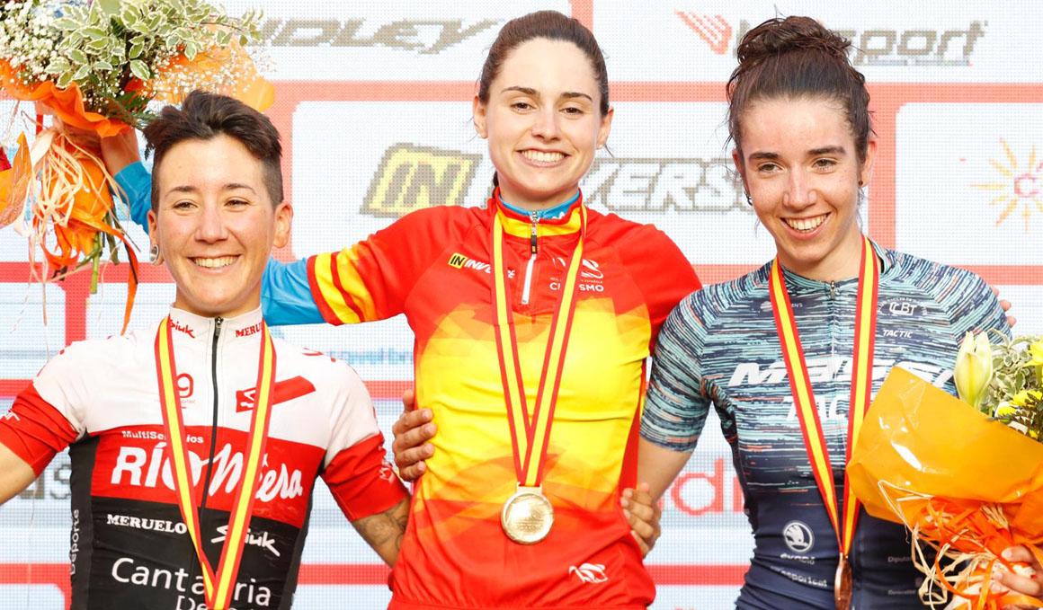 Exhibición de Lourdes Oyarbide para ganar el Campeonato de España en ruta