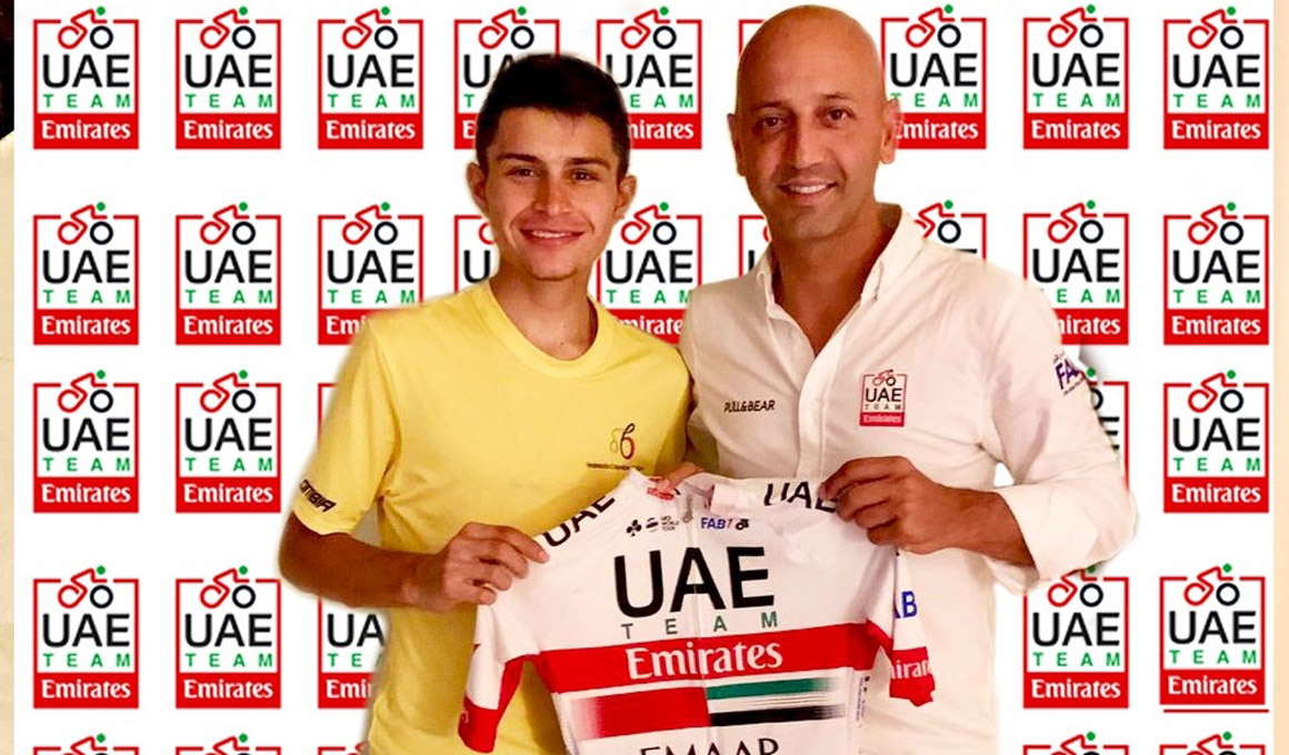 UAE Team Emirates ficha a Camilo Ardila, ganador del Giro sub-23