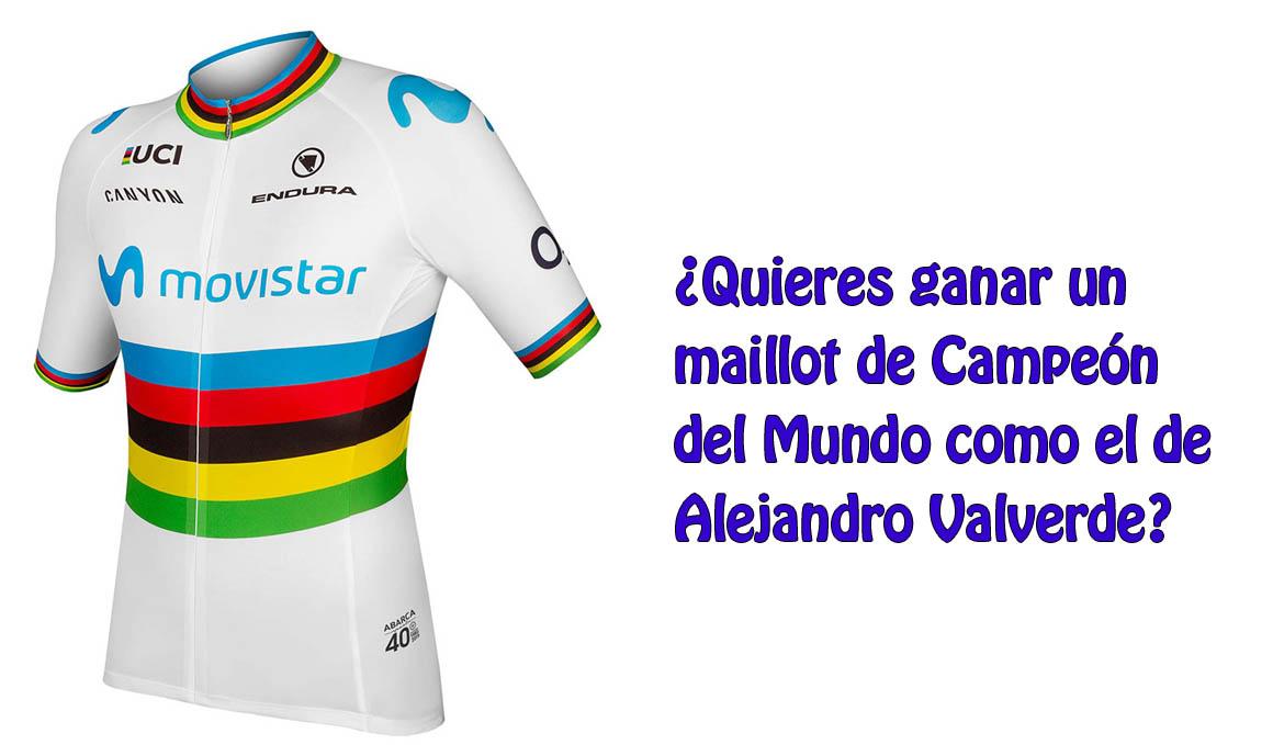 ¿Quieres conseguir el maillot de Valverde?