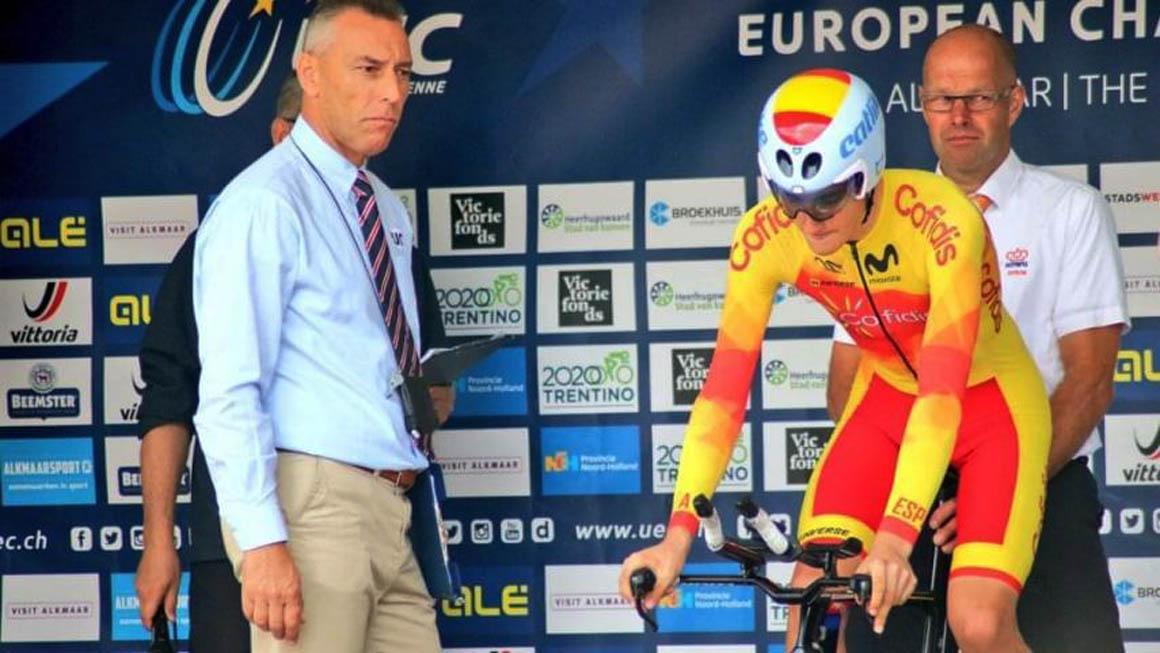 Carlos Rodríguez, 18° en la contrarreloj junior del Campeonato de Europa
