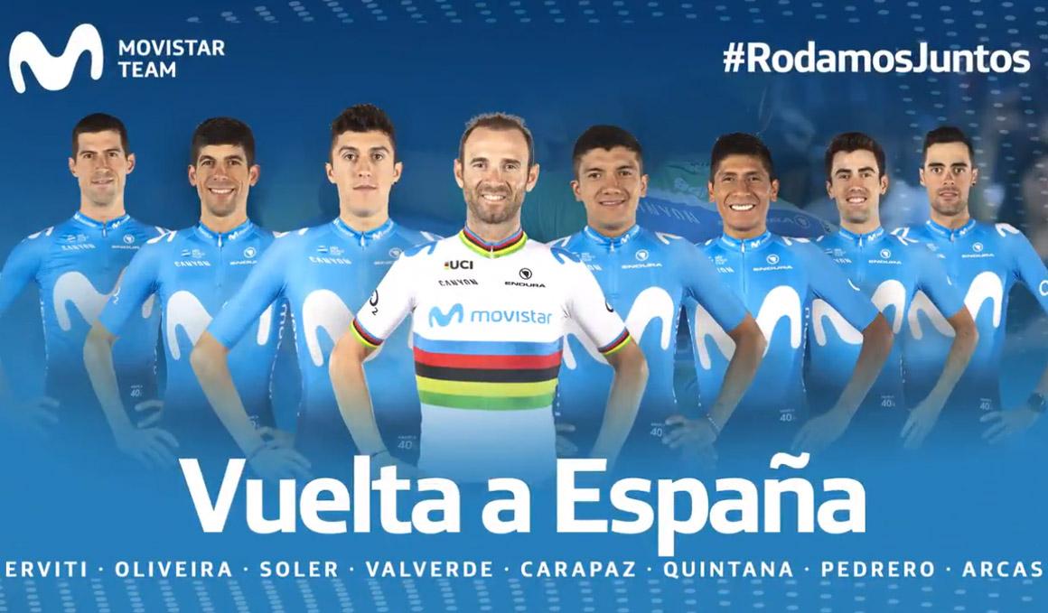 Carapaz, Quintana y Valverde lideran un potente Movistar Team para la Vuelta
