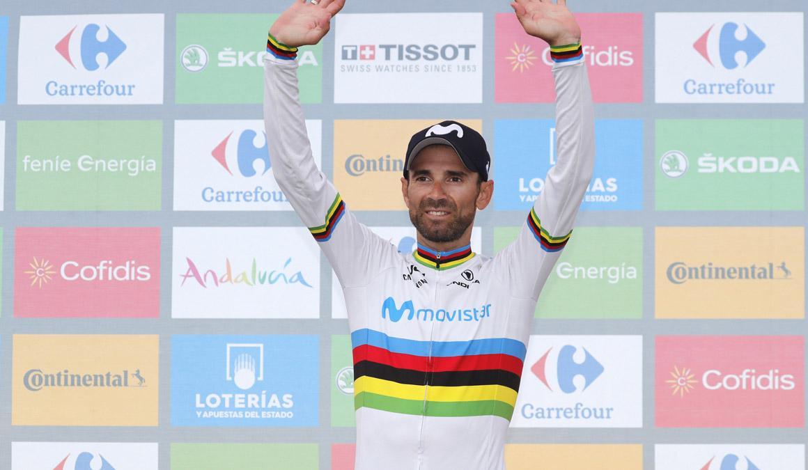 """Valverde: """"¿Ganar la Vuelta? Sería la leche"""""""