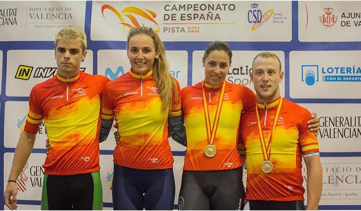 Tania Calvo y Pepe Moreno conquistan dos oros en la jornada de sábado del nacional de pista