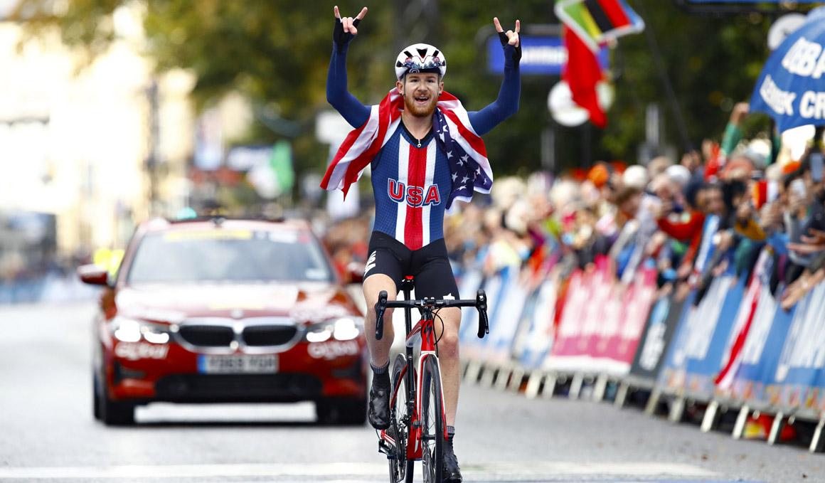 Quinn Simmons, brillante campeón del Mundo Junior en ruta